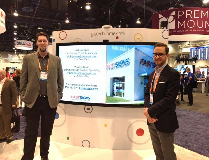 FASTSIGNS Partners With Google To Market ChromeOS Digital Signage Solutions
