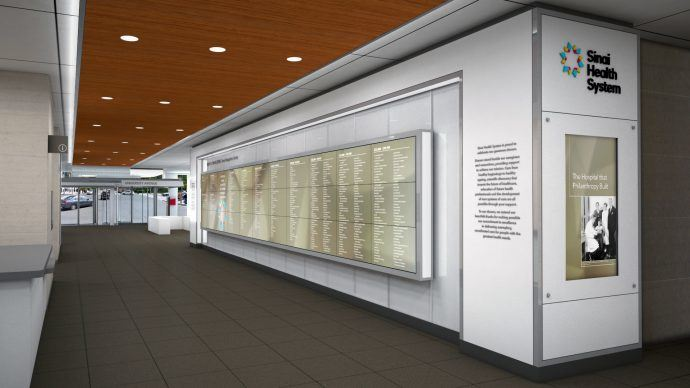 Projects: Toronto's Mount Sinai Switches On Massive Digital Donor Wall