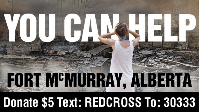 Pattison OOH Boards Run Red Cross Outreach Spots Full-Time To Support Fort Mac Fire Relief
