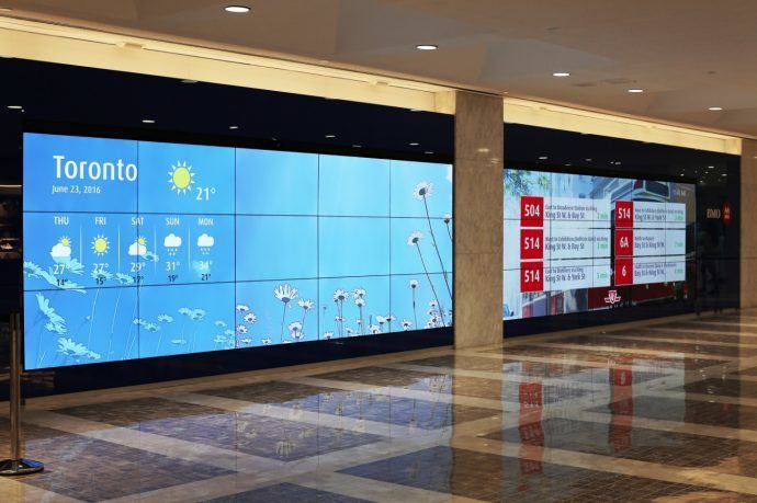Projects: BMO Lights Up Twin Video Walls In Toronto's PATH System