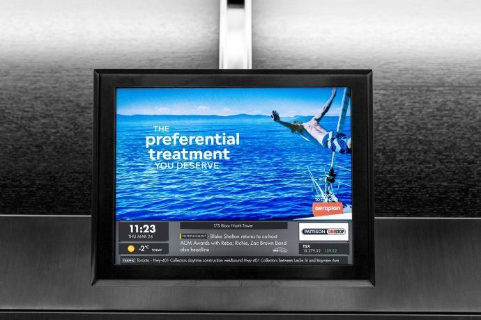 PATTISON Onestop Catching Up With Captivate In Canadian Elevator Media Race