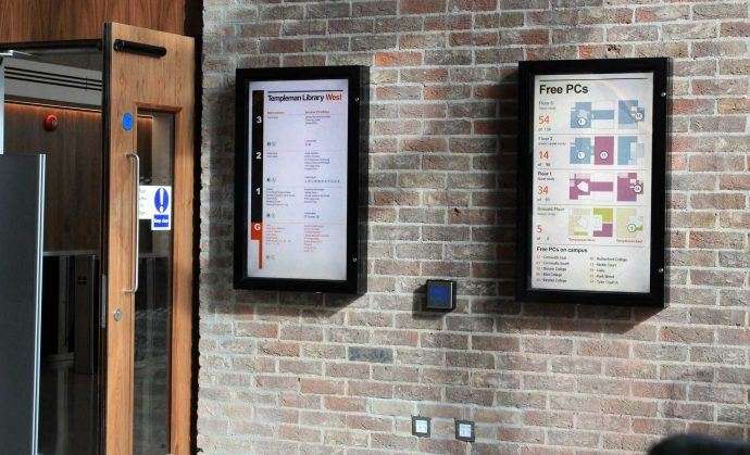 Projects: University Of Kent Using Signage To Connect Students To Services