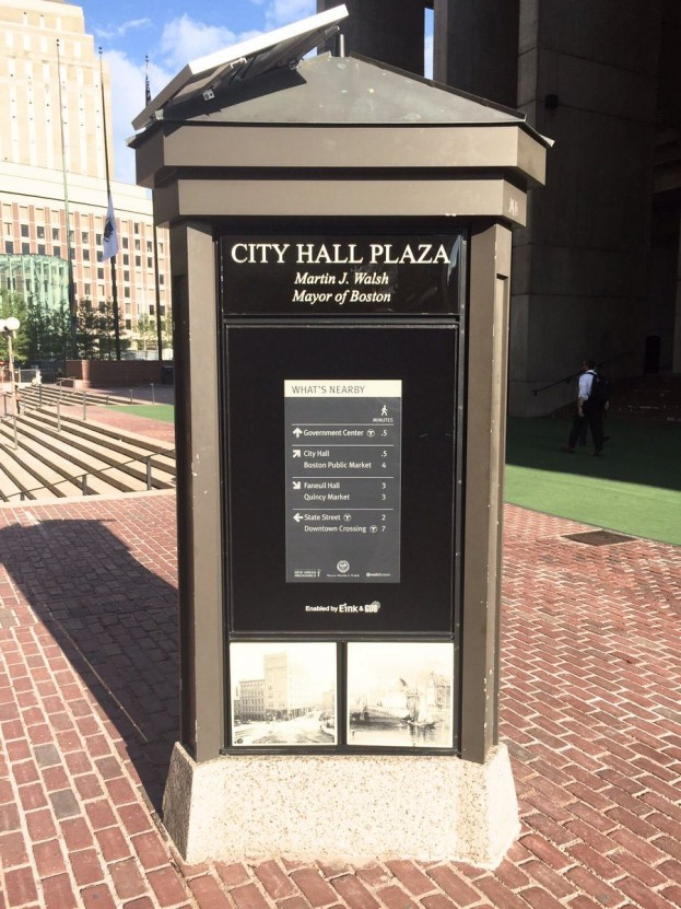 Boston Gets First E-Paper Wayfinding Sign