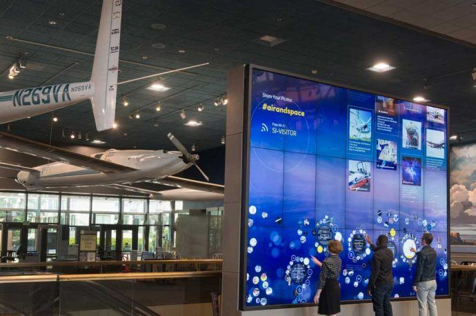 Projects: Giant Interactive Wall Turns On At Smithsonian's Flight Hall