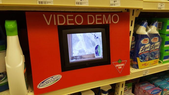 Projects: Low-Rent Digital Shelf Talkers At Canadian Tire