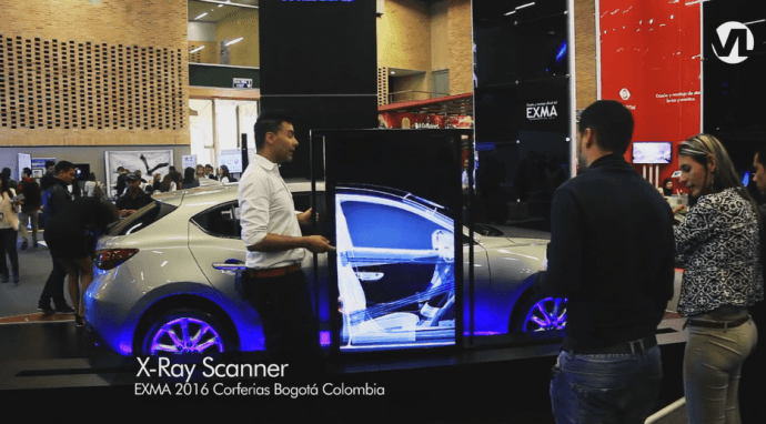 Projects: Virtual X-Ray Scans Mazda 3 At Trade Show