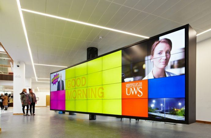 Projects: Giant, Two-Sided, Pivoting Video Wall Lights Up in Scotland