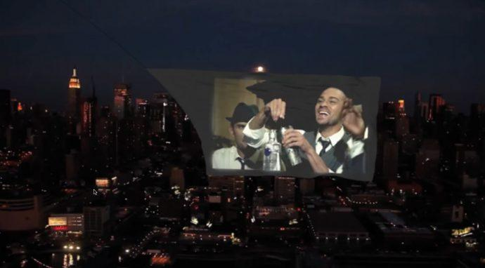 Projection-Mapped Advertising Goes Airborne Over NYC