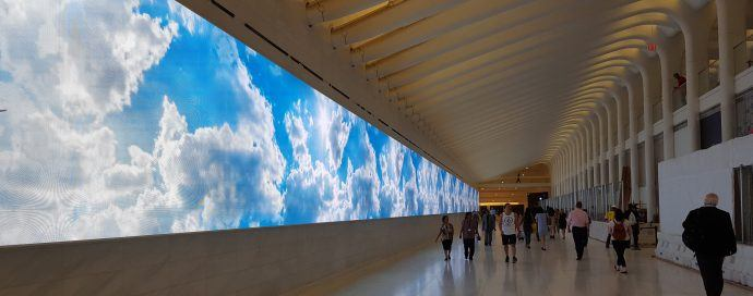 Projects: 280 Foot Wide LED Wall Lights Up In World Trade Center's New Mall