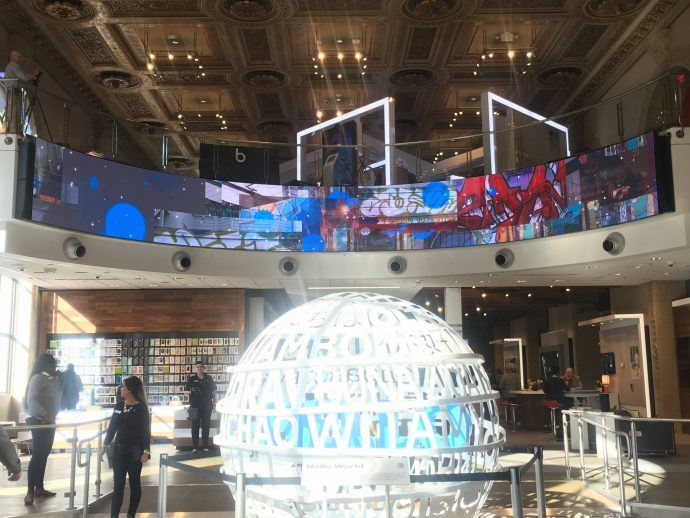 "AT&T's New San Francisco Flagship Includes Giant ""Fluid Art"" Digital Bulkhead"