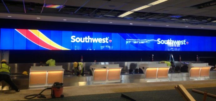 Pic: Here's A Shot Of That Almost-Endless Video Wall At Orlando Airport
