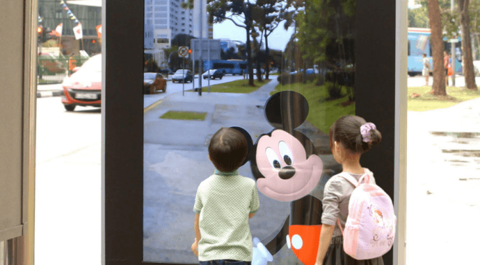 Disney Uses AR On Singapore Streetscape To Market Kids' TV Channel