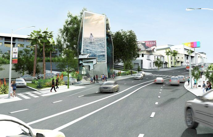 Giant Three-Sided LED Tower OK'd For LA's Sunset Boulevard