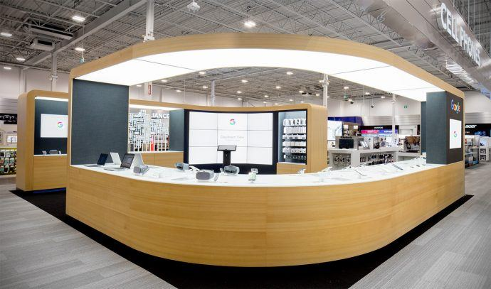 Google Shops Open In Canada With 3×3 Feature Video Walls