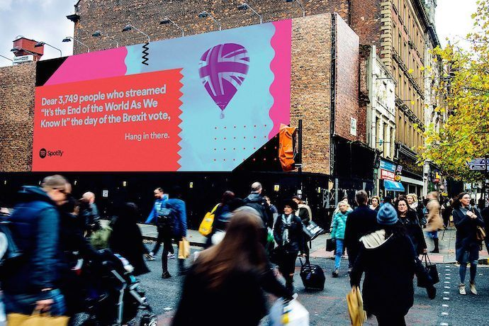 Spotify's Digital OOH Campaign Mined Listener Data To Create Snarky, Fun Ads
