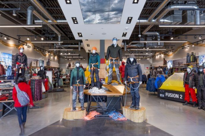 North Face Hangs Atmospheric Video Walls In Palo Alto Flagship Store