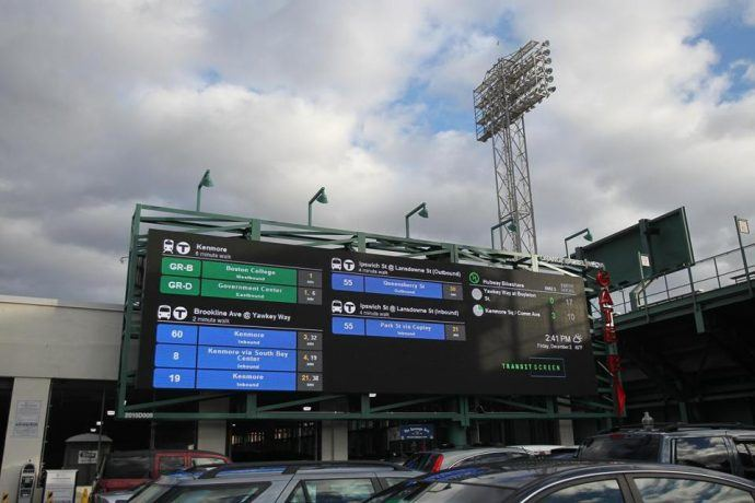 TransitScreen Gets Into Outdoor Ad Business, Sorta, With New Fenway Billboard