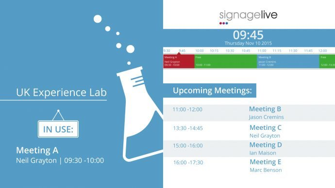 Signagelive Debuts Meeting Room Sign Widget Solution