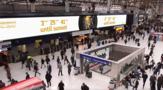 Projects: Sunset Countdown Focal Point Of UK Grocer's Summer Digital OOH Campaign