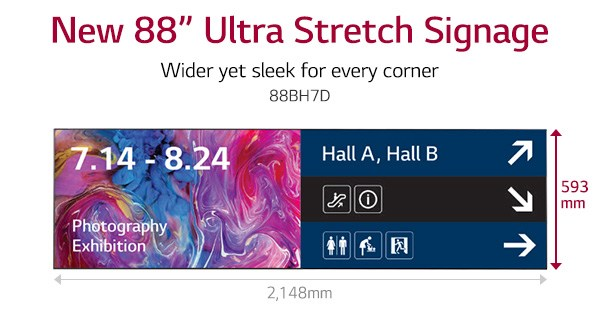 LG Starts Marketing 88-Inch Stretch Digital Signage Display