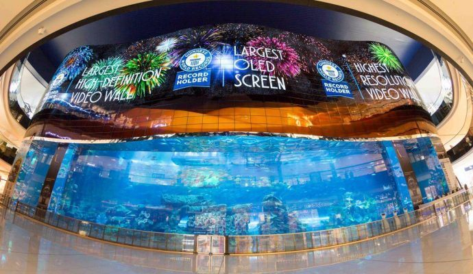 Amazing: Dubai Mall Turns On World's Largest OLED Video Wall