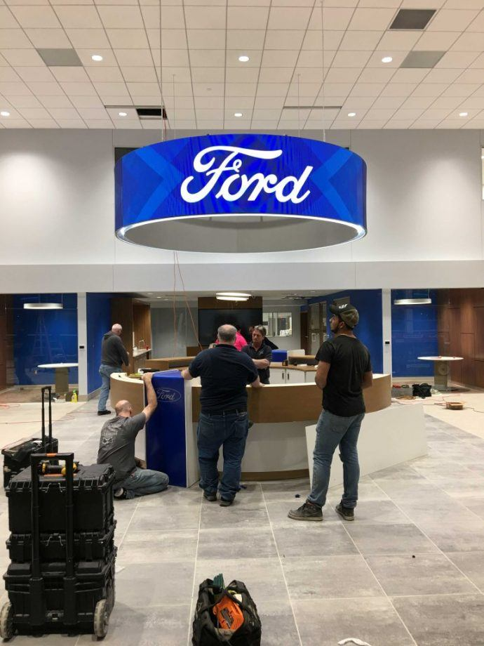 Projects: New Ford Dealer Opens With Digital Brand Halo