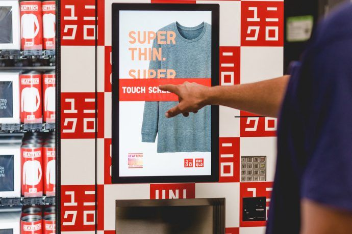 Uniqlo Adds Interactive Vending Machines