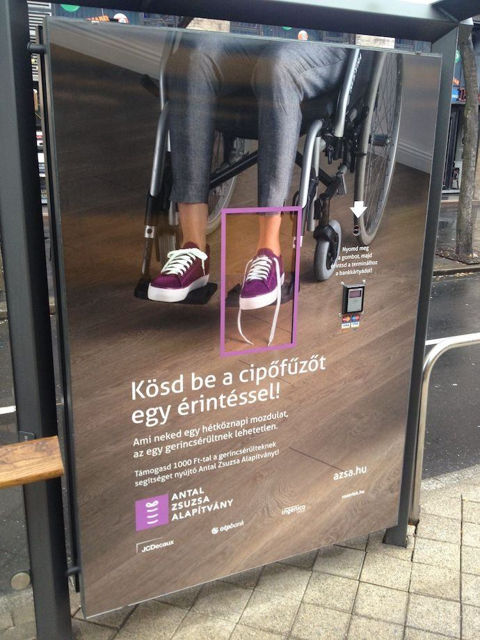Budapest Charity Ad Blends OOH, Digital OOH And Contactless Payments