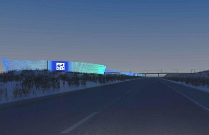 Denver's Airport Turns On 1,000-Foot Hybrid LED Light And Digital OOH Display Feature