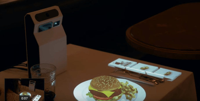 Video: Interactive Restaurant Table Uses Portable Hologram Projector