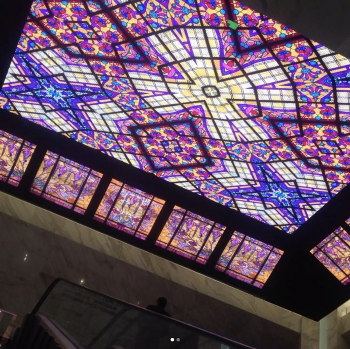 LEDs Create Faux Stained Glass Ceiling In Luxe Mexican Department Store