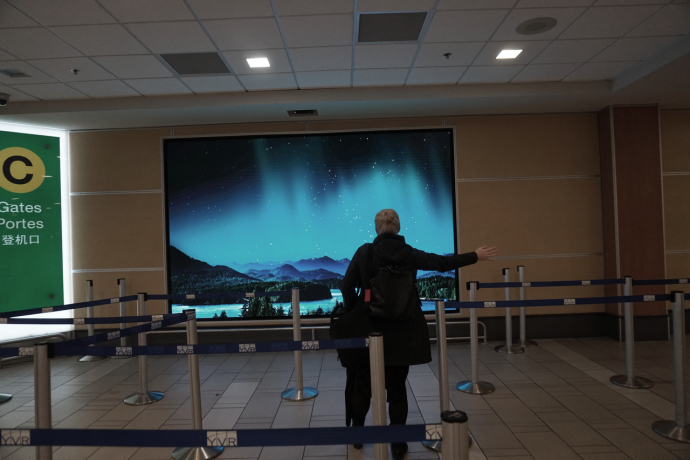 Interactive Wall Replaces Old Flight Path Map At Vancouver's Int'l Airport
