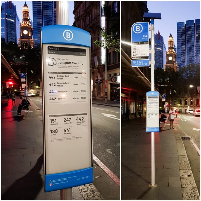 Sydney, Australia Debuts Solar-Powered E-Paper Transit Signs