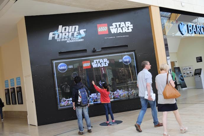Interactive DOOH Campaign In UK Malls Pairs Lego And Latest Star Wars Flick