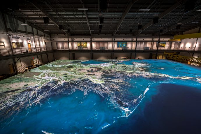 Massive Projection-Mapping Set-Up Shows Potential Impacts Of Disappearing Louisiana Coastline