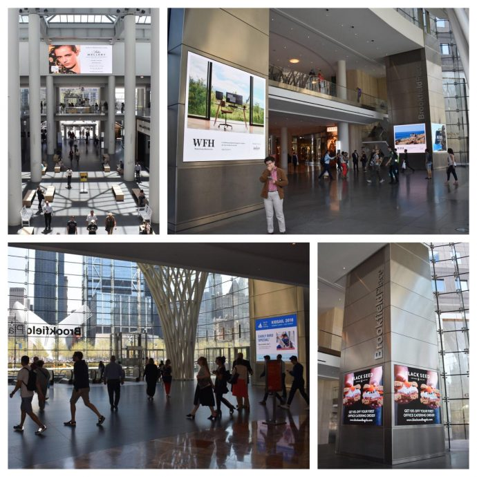 Big LED Posters Light Up Retail Space Near NYC World Trade Center