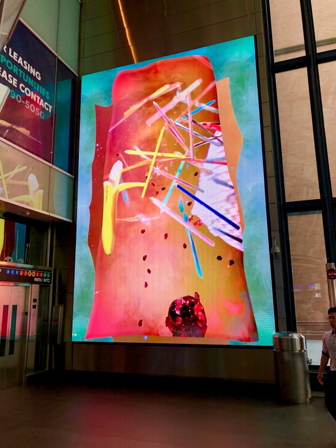 Watch The Latest Digital Art Piece Running On NYC Fulton Center's Digital Signage Network