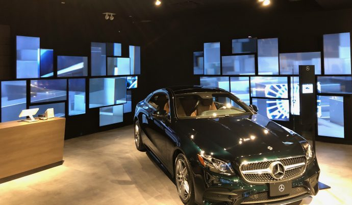 Big Video Walls Help Market Mercedes Lux Cars In Pop-up Mall Dealerships