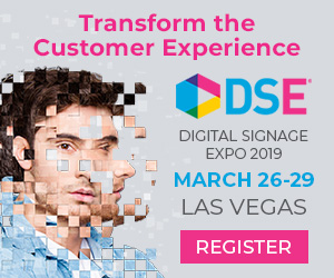 Digital Signage Expo 2019 - Transform the customer experience